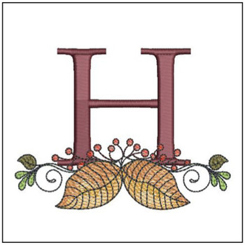 Aspen Leaf ABC's - H - Embroidery Designs