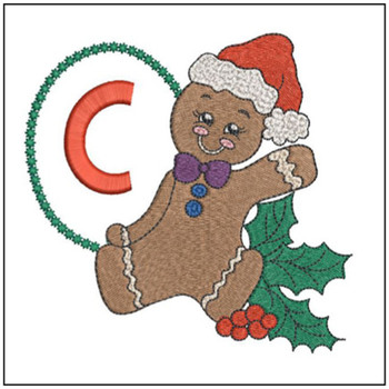 Gingerbread Man ABC's - C - Embroidery Designs