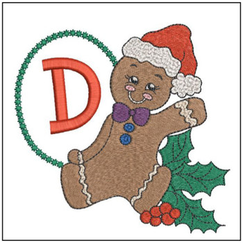 Gingerbread Man ABC's - D - Embroidery Designs
