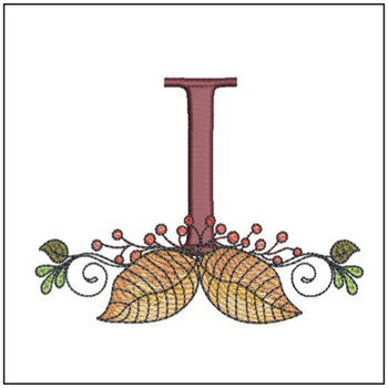 Anchor Aspen Leaf ABC's - I - Embroidery Designs