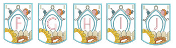 Birdhouse - Bundle- Letters - F-J - Embroidery Designs