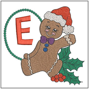 Gingerbread Man ABC's - E - Embroidery Designs