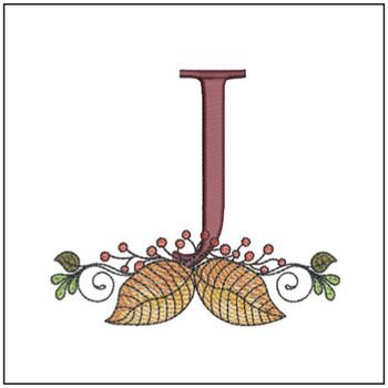 Aspen Leaf ABC's - J - Embroidery Designs