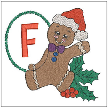Gingerbread Man ABC's - F - Embroidery Designs