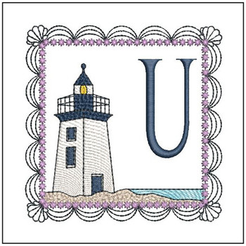 Lighthouse ABC's Applique - U - Embroidery Designs