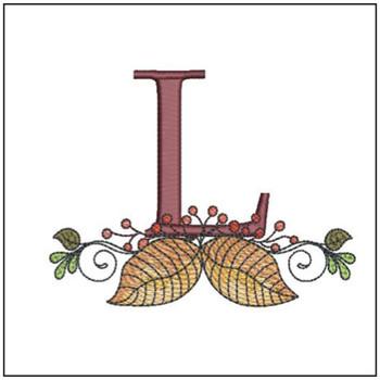 Aspen Leaf ABC's - L - Embroidery Designs
