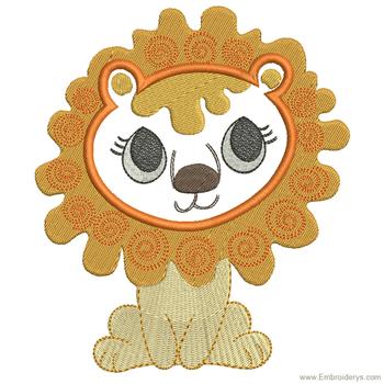Cute Baby Lion Applique - Embroidery Designs