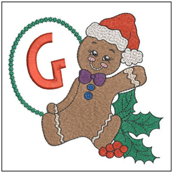 Gingerbread Man ABC's - G - Embroidery Designs