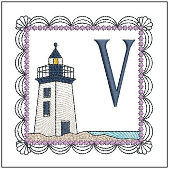 Lighthouse ABC's Applique - V - Embroidery Designs