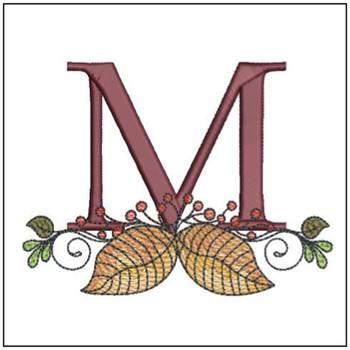 Aspen Leaf ABC's - M - Embroidery Designs