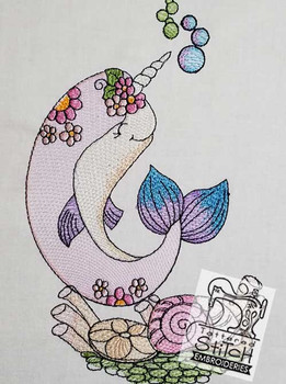Narwhal Whale - Embroidery Designs