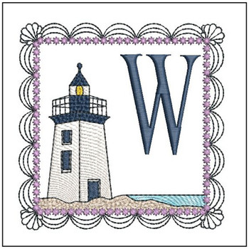 Lighthouse ABC's Applique - W - Embroidery Designs