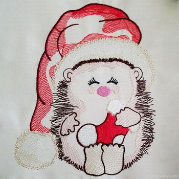 Jolly Christmas Hedgehog - Embroidery Designs