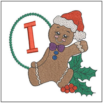 Gingerbread Man ABC's - I - Embroidery Designs