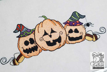 "3 Little Pumpkins- Fits in a 5x7 & 8x8"" Hoop - Instant Downloadable Machine Embroidery"