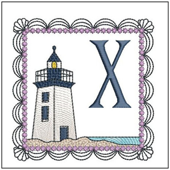 Lighthouse ABC's Applique - X - Embroidery Designs