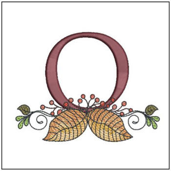 Aspen Leaf ABC's - O - Embroidery Designs