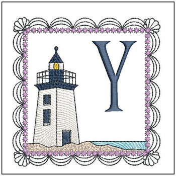 Lighthouse ABC's Applique - Y - Embroidery Designs
