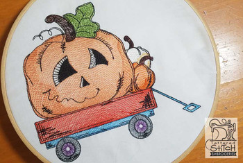 Assorted Pumpkins in Cart - Embroidery Designs