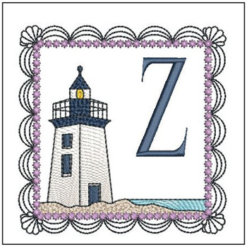 Lighthouse ABC's Applique - Z - Embroidery Designs