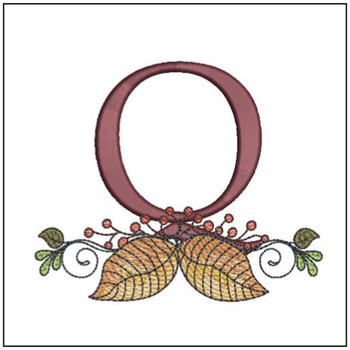 Aspen Leaf ABC's - Q - Embroidery Designs