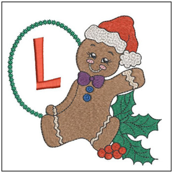 Gingerbread Man ABC's - L - Embroidery Designs