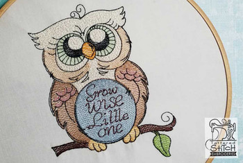 "Grow Wise Little One- Fits in a 4x4 & 5x7 "" Hoop - Instant Downloadable Machine Embroidery"