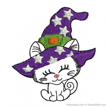 Halloween Kitty Feltie - Embroidery Designs