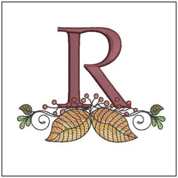 Aspen Leaf ABC's - R - Embroidery Designs