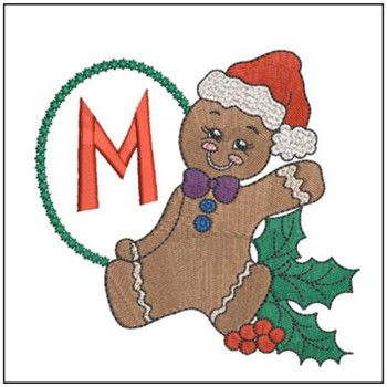 Gingerbread Man ABC's - M - Embroidery Designs