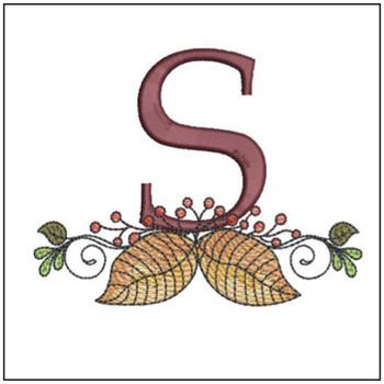 Aspen Leaf ABC's -S - Embroidery Designs