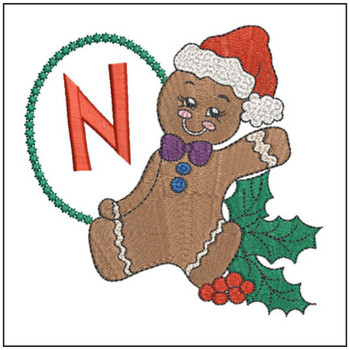 Gingerbread Man ABC's - N - Embroidery Designs