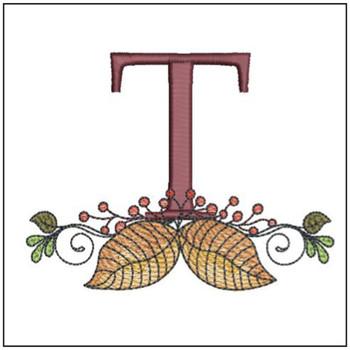 Aspen Leaf ABC's - T - Embroidery Designs