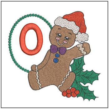 Gingerbread Man ABC's - O - Embroidery Designs