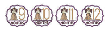 Puppy Luv - Milestones Bundle - 9-12 - Embroidery Designs