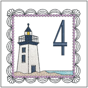Lighthouse ABC's Applique - 4 - Embroidery Designs