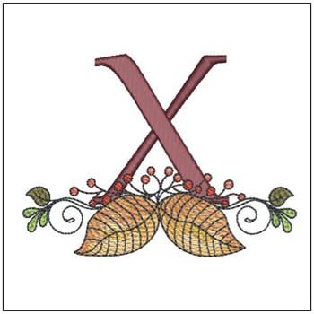 Aspen Leaf ABC's - X - Embroidery Designs