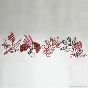 Autumn Leaves Border - Embroidery Designs