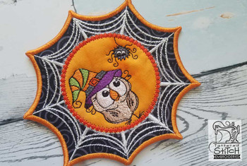 "Spiderweb Owl  - Fits in a 5x7"" Hoop - Instant Downloadable Machine Embroidery"