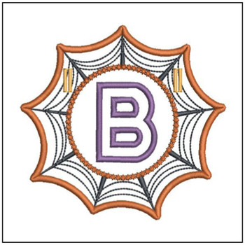 "Spiderweb ABC's - B - Fits in a 5x7"" Hoop - Instant Downloadable Machine Embroidery"