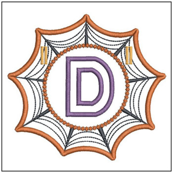 Spiderweb ABCs Font - D - Embroidery Designs