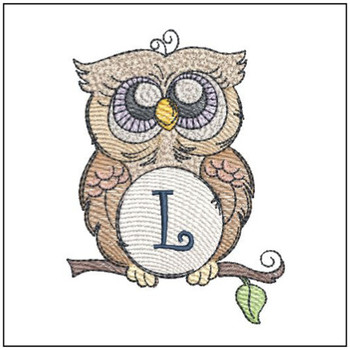 Owl ABC's Font - L - Embroidery Designs