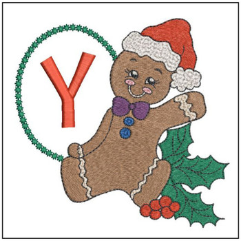 Gingerbread Man ABC's - Y - Embroidery Designs