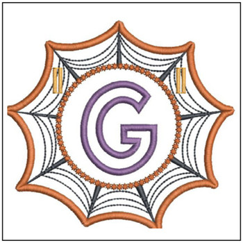 Spiderweb ABCs Font - G - Embroidery Designs