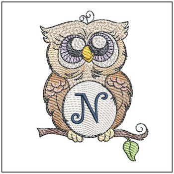 "Owl ABC's - N- Fits in a 4x4"" Hoop - Instant Downloadable Machine Embroidery"
