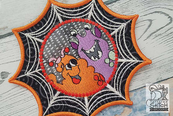 "Spiderweb Monster Pals - Fits in a 5x7"" Hoop - Instant Downloadable Machine Embroidery"