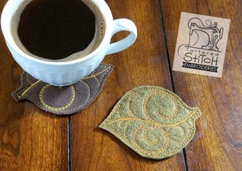 Fall Aspen Leaf Coaster - Embroidery Designs