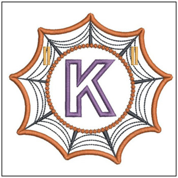 Spiderweb ABCs Font - K - Embroidery Designs