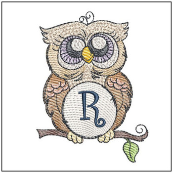 Owl ABC's Font - R - Embroidery Designs