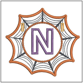 Spiderweb ABCs Font - N - Embroidery Designs
